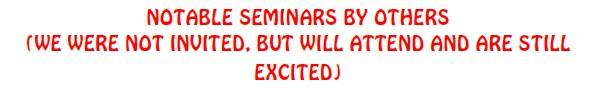 Notable seminars