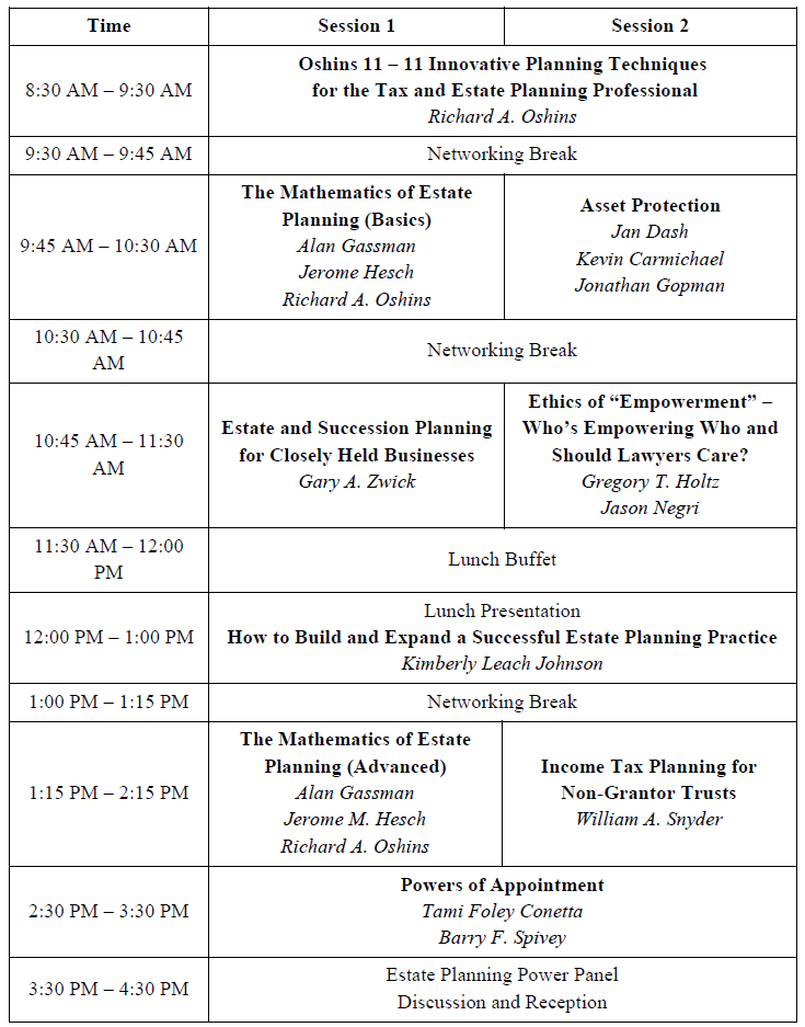 The thursday report 4232015 uf tax institute special edition ave maria schedule updated fandeluxe Image collections