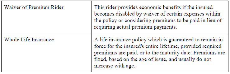 Life Insurance Definitions 2